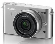 Цифровой фотоаппарат Nikon 1 J1 Kit + объектив 10mm f/ 2.8 Silver (VVA154K002)