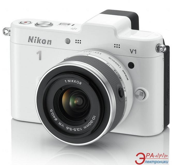 Цифровой фотоаппарат Nikon 1 V1 Kit + объектив 10-30mm VR White (VVA102K001)
