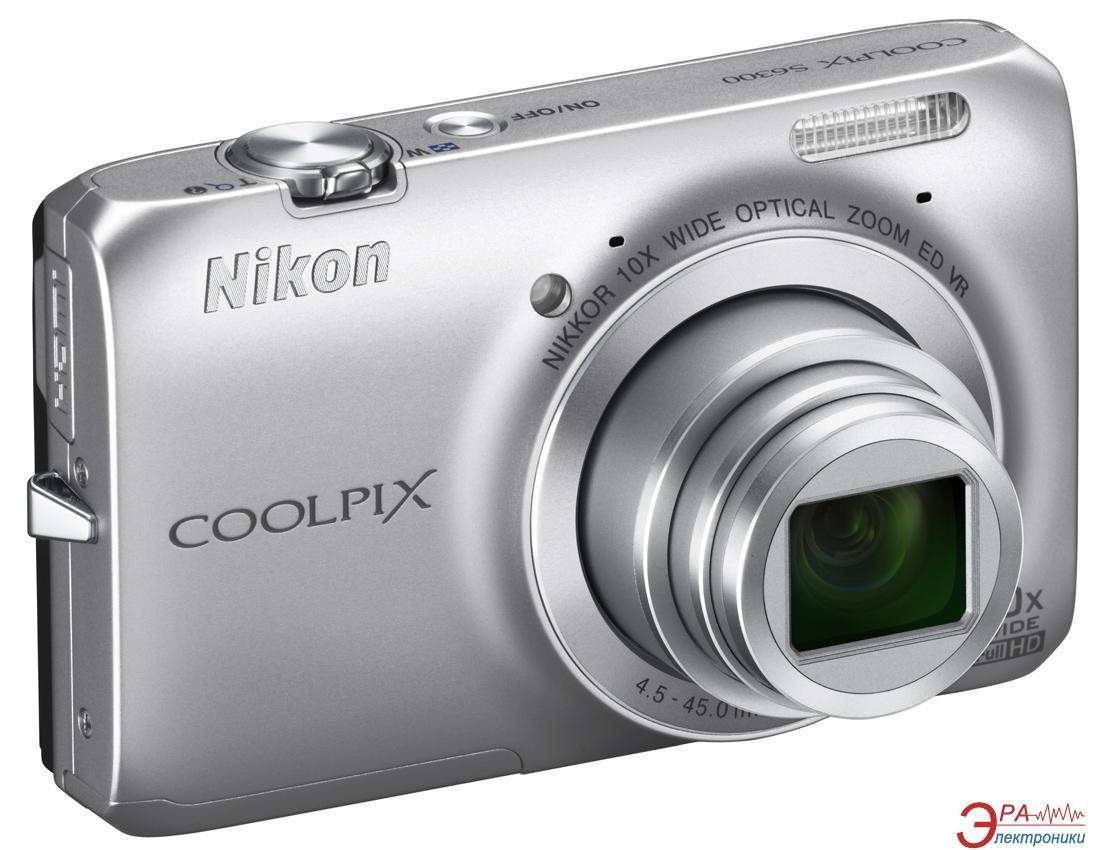 Цифровой фотоаппарат Nikon Coolpix S6300 Silver