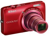 Цифровой фотоаппарат Nikon Coolpix S6300 Red