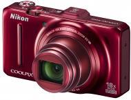 Цифровой фотоаппарат Nikon COOLPIX S9300 Red (VMA922E1)