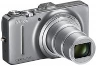 Цифровой фотоаппарат Nikon COOLPIX S9300 Silver (VMA920E1)
