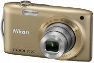 Цифровой фотоаппарат Nikon COOLPIX S3300 Gold (VMA953E1)