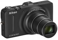 Цифровой фотоаппарат Nikon COOLPIX S9300 Black (VMA921E1)