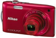 Цифровой фотоаппарат Nikon COOLPIX S3300 Red