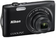 Цифровой фотоаппарат Nikon COOLPIX S3300 Black (VMA951E1)