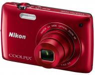 Цифровой фотоаппарат Nikon COOLPIX S4300 Red (VMA942E1)