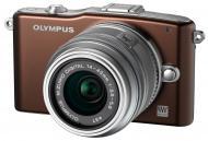 Цифровой фотоаппарат Olympus E-PM1 14-42 mm kit Brown (V20601BNE000)