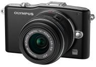 Цифровой фотоаппарат Olympus E-PM1 DZK KiT 14-42+40-150mm Black (V20601CBE000)