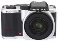Цифровой фотоаппарат Pentax K-01 + DA 40mm XS Silver (15302)