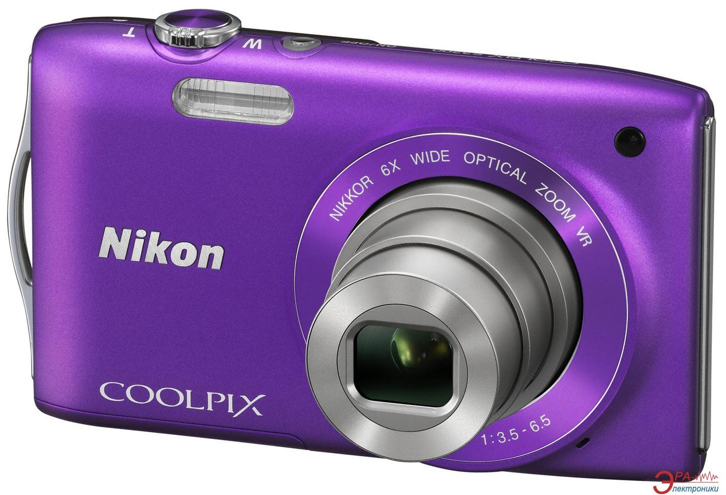 Цифровой фотоаппарат Nikon COOLPIX S3300 Purple