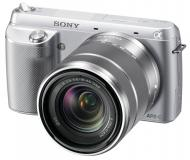 Цифровой фотоаппарат Sony NEX-F3 + объектив 18-55mm KIT Silver (NEXF3KS.CEE2)