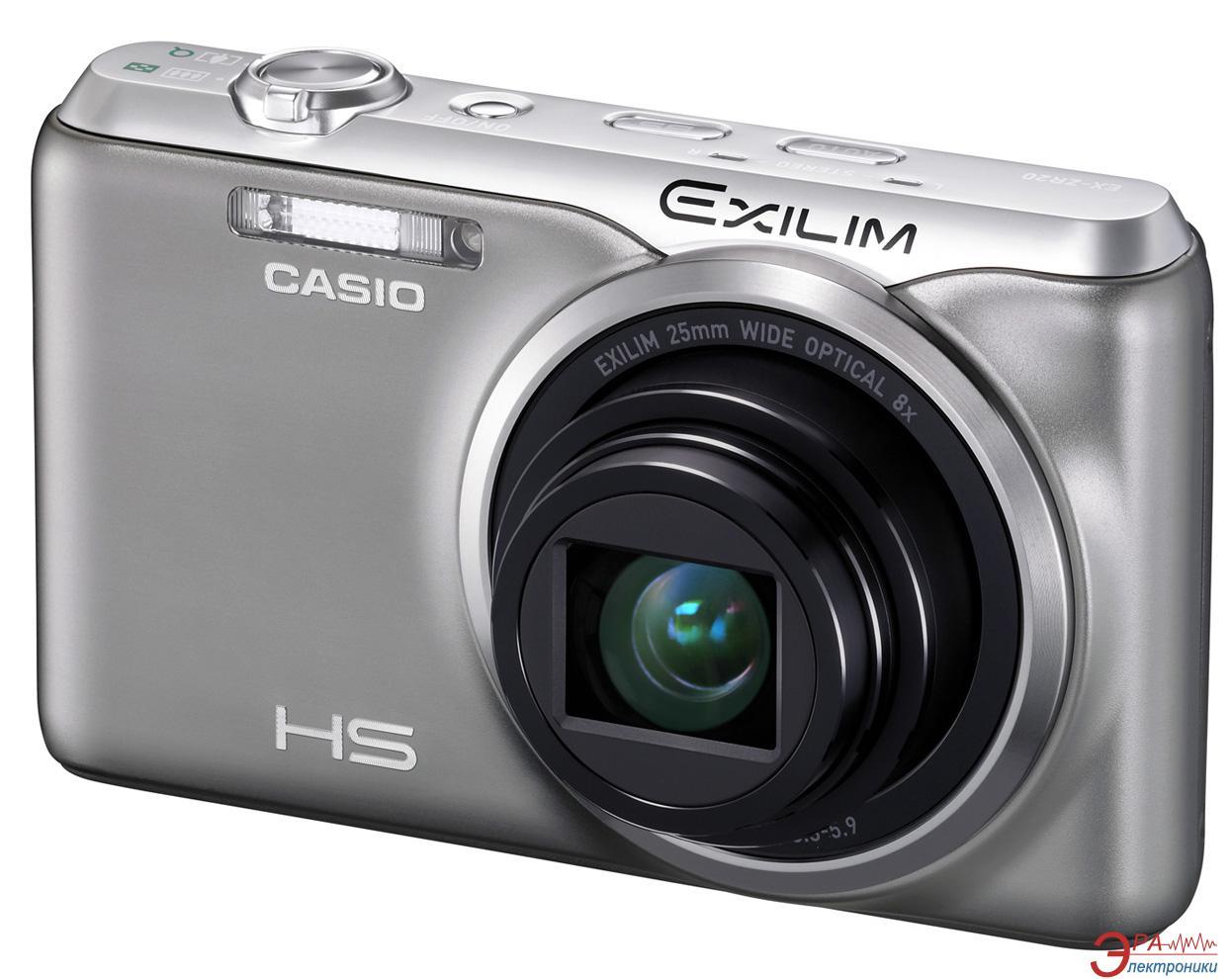 Цифровой фотоаппарат CASIO Exilim EX-ZR20 Silver (EX-ZR20SRECA)