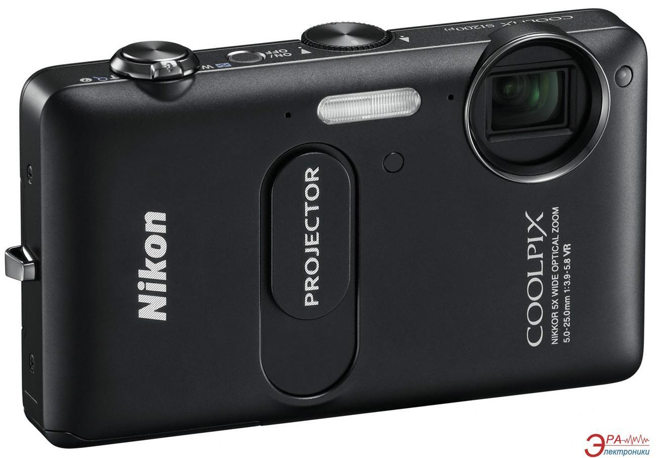 Цифровой фотоаппарат Nikon COOLPIX S1200pj Black