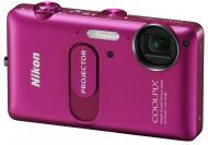 Цифровой фотоаппарат Nikon COOLPIX S1200pj Pink