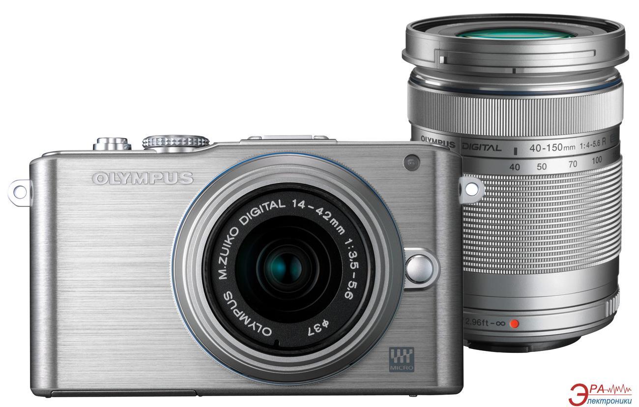 Цифровой фотоаппарат Olympus E-PL3 DZK 14-42 + 40-150 mm Silver