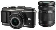 Цифровой фотоаппарат Olympus EP-3 DZK 14-42 + 40-150 mm Black