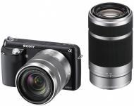 Цифровой фотоаппарат Sony NEX-F3 + объектив 18-55mm + 55-210 mm Kit Black