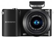 Цифровой фотоаппарат Samsung NX1000 + объектив 20-50mm Black (EV-NX1000BABUA)