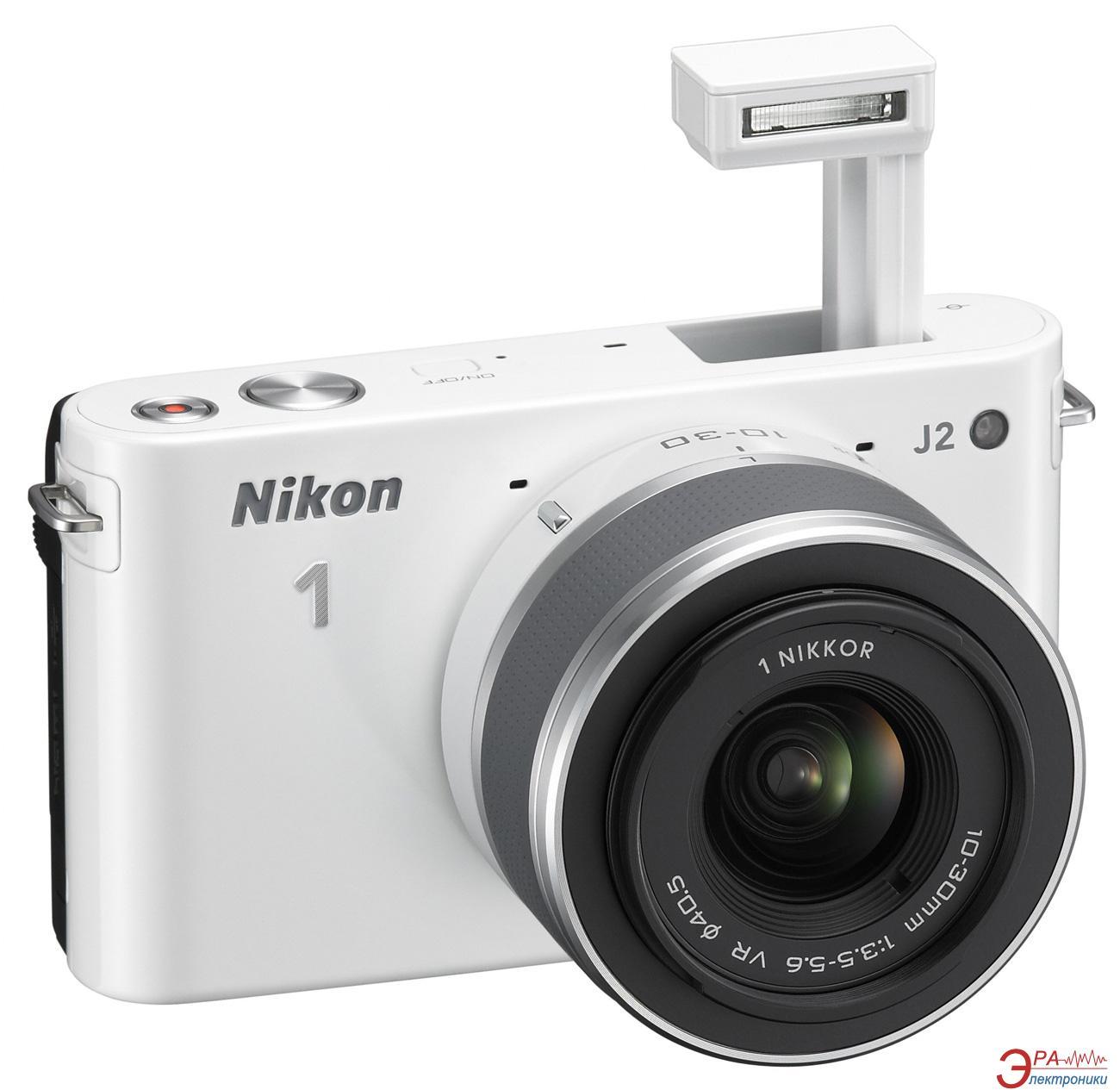 Цифровой фотоаппарат Nikon 1 J2 Kit + 10-30mm White (VVA162K001)