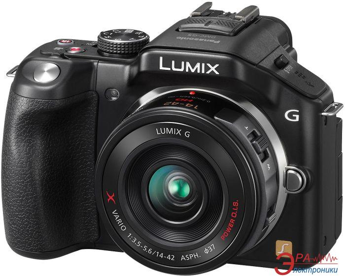 Цифровой фотоаппарат Panasonic Lumix DMC-G5X Kit 14-42mm Black (DMC-G5KEE-K)