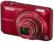 Цифровой фотоаппарат Nikon Coolpix S6400 Red (VNA192E1)