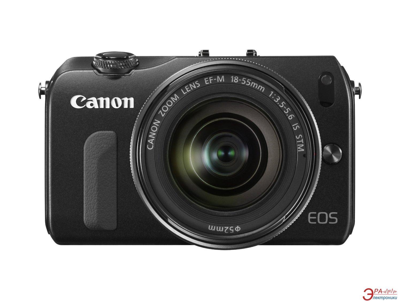 Цифровой фотоаппарат Canon EOS M + объектив 18-55 IS STM + вспышка Speedlite 90 EX Black (6609B045)