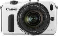�������� ����������� Canon EOS M + �������� 18-55 IS STM +  ������� Speedlite 90 EX White Black (6611B034)