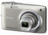 Цифровой фотоаппарат Nikon Coolpix S2700 Silver (VNA300E1)