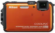 Цифровой фотоаппарат Nikon COOLPIX AW100 Orange (VMA893E1)