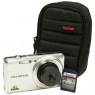 Цифровой фотоаппарат Olympus D-735 Silver + сумка + карта SDHC 4 Gb