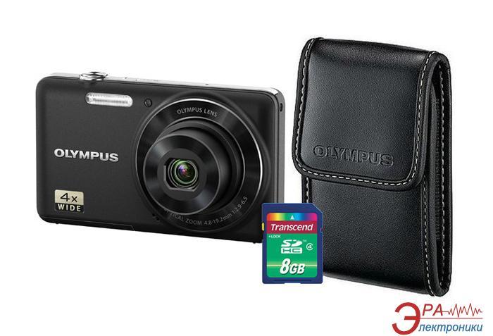 Цифровой фотоаппарат Olympus VG-150 Black + чехол + карта SDHC 8 Gb