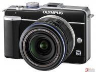 �������� ����������� Olympus E-PL1 14-42 mm Black + ��������� ���� PT-EP01