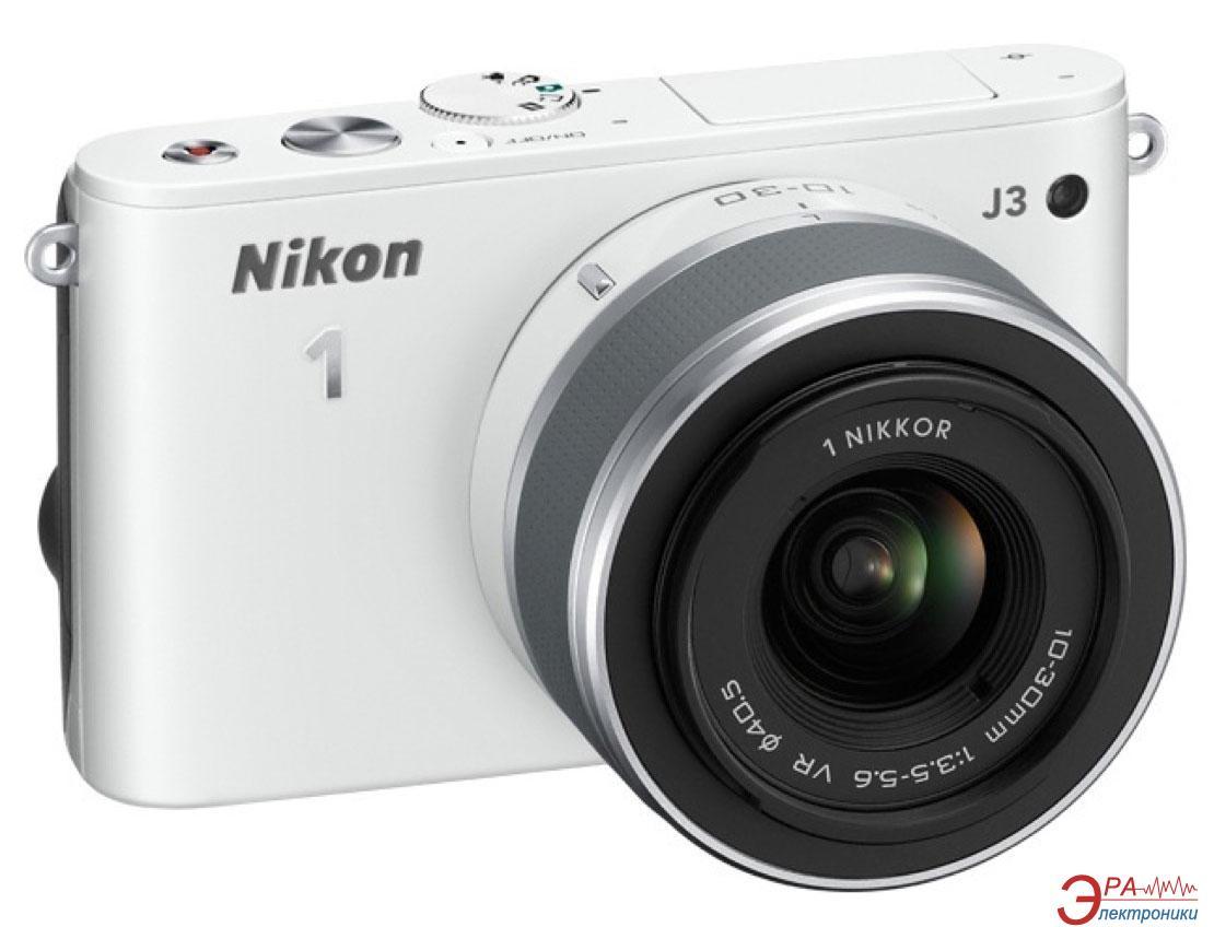 Цифровой фотоаппарат Nikon 1 J3 + 10-30mm White (VVA182K001)