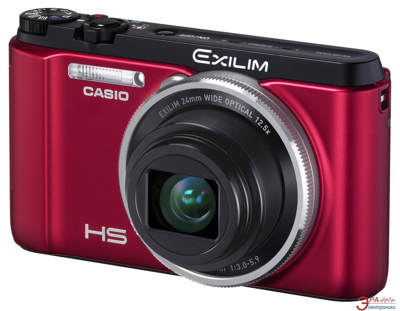 Цифровой фотоаппарат CASIO Exilim EX-ZR1000 Red (EX-ZR1000RDECC)