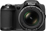 Цифровой фотоаппарат Nikon Coolpix L820 Black (VNA330E1)