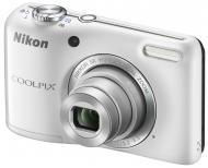 Цифровой фотоаппарат Nikon Coolpix L27 White (VNA363E1)