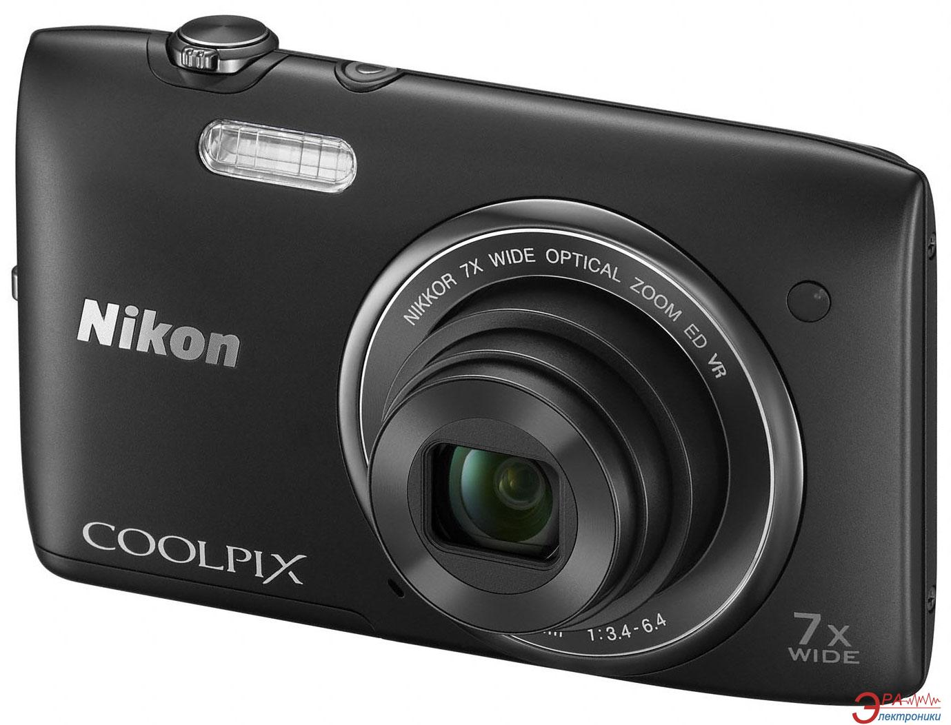 Цифровой фотоаппарат Nikon COOLPIX S3500 Black (VNA291E1)