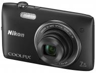 �������� ����������� Nikon COOLPIX S3500 Black (VNA291E1)