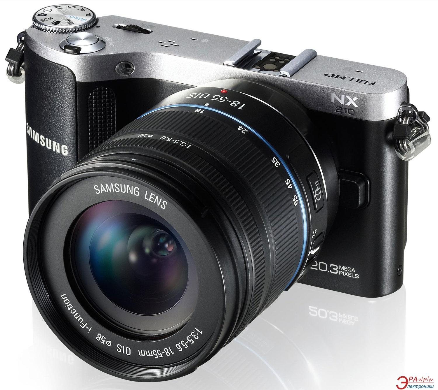 Цифровой фотоаппарат Samsung NX210 18-55mm Kit Black (EV-NX210ZBSBUA) + ERGO Tab Legend 8 Gb