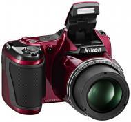 Цифровой фотоаппарат Nikon Coolpix L820 Red (VNA331E1)