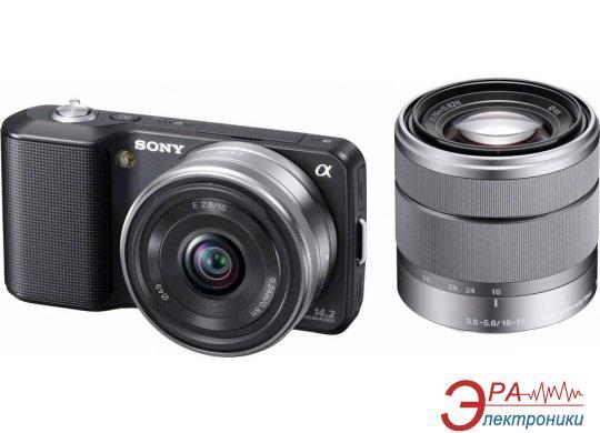 Цифровой фотоаппарат Sony NEX-3 + 16mm + 18-55mm KIT Black (NEX3DB.CEE2)