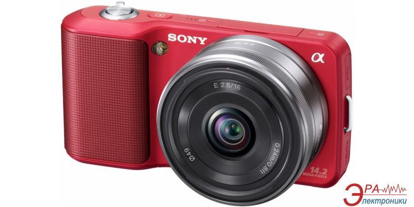 Цифровой фотоаппарат Sony NEX-3 + объектив 16mm KIT Red (NEX3AR.CEE2)