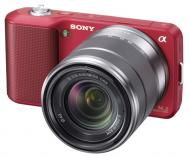 Цифровой фотоаппарат Sony NEX-3 + объектив 18-55mm KIT Red (NEX3KR.CEE2)