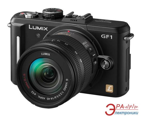Цифровой фотоаппарат Panasonic LUMIX DMC-GF1 14-45mm Kit Black DMC-GF1KGC-K)