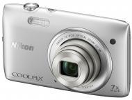 Цифровой фотоаппарат Nikon COOLPIX S3500 Silver (VNA290E1)