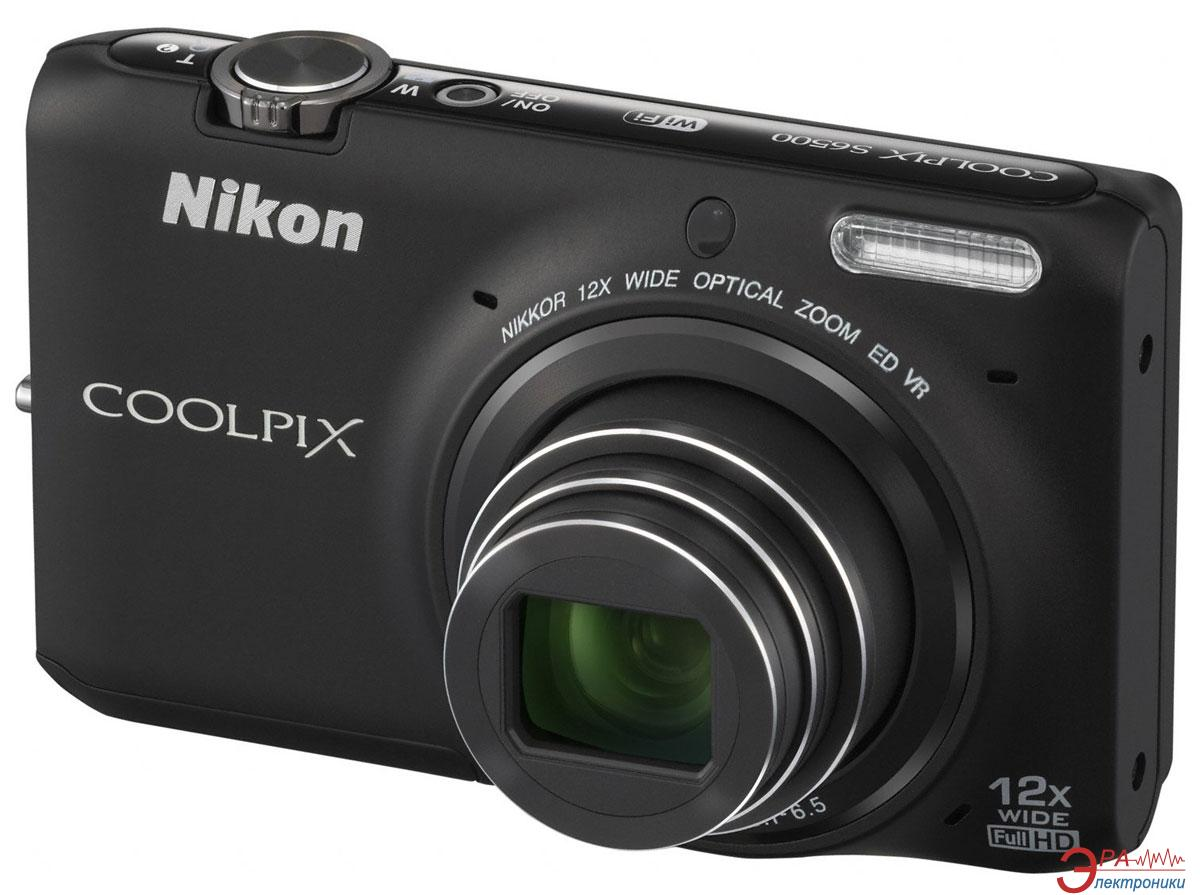 Цифровой фотоаппарат Nikon Coolpix S6500 Black (VNA271E1)