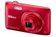 Цифровой фотоаппарат Nikon Coolpix S3400 Red (VNA392E1)