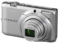 Цифровой фотоаппарат Nikon Coolpix S6500 Silver (VNA270E1)