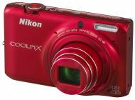 Цифровой фотоаппарат Nikon Coolpix S6500 Red (VNA272E1)